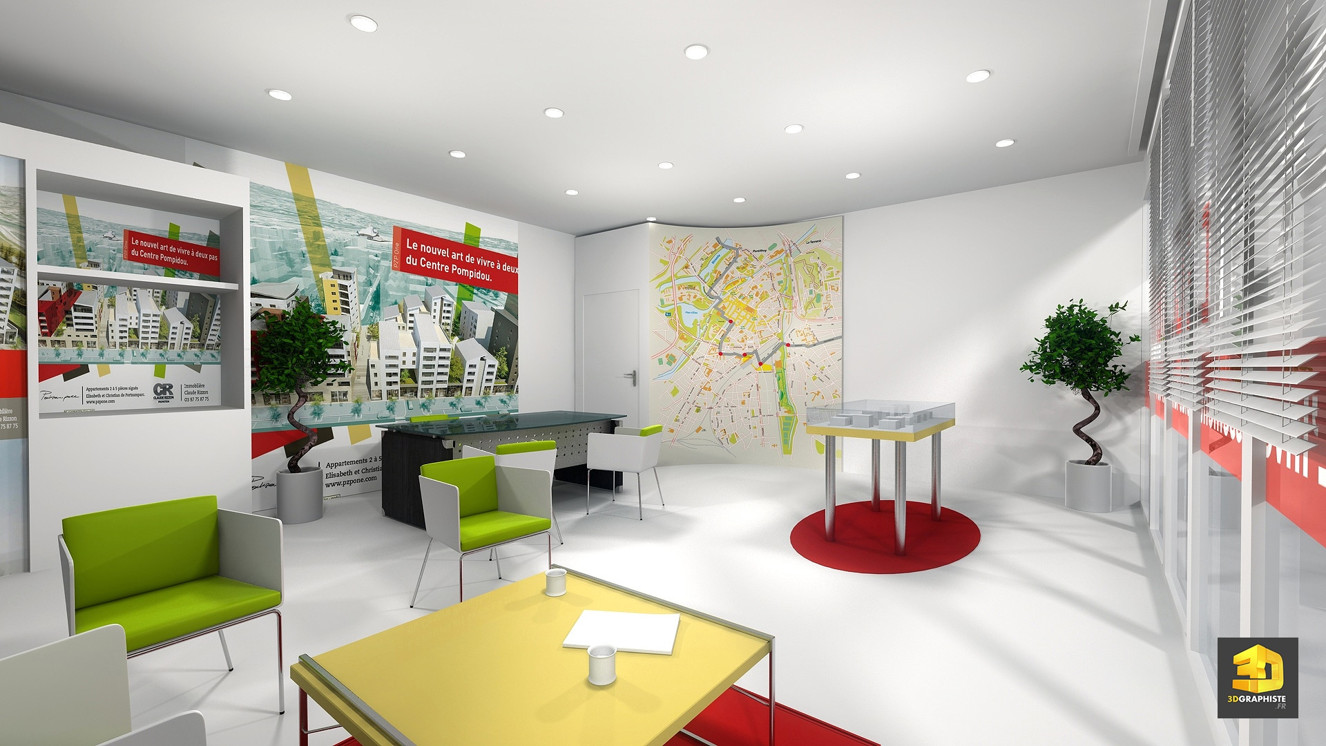 Conception d 39 une bulle de vente espace de vente for Conception 3d appartement