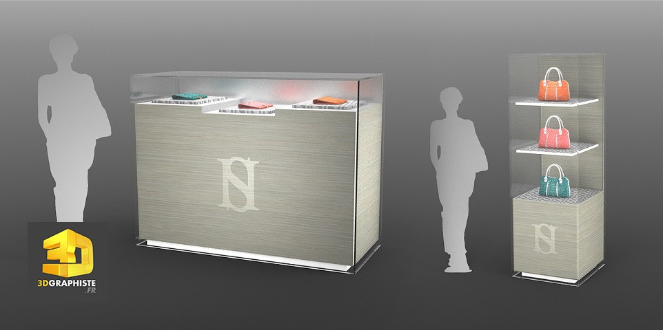 design d un meuble vitrine harold scherman 3dgraphiste fr. Black Bedroom Furniture Sets. Home Design Ideas