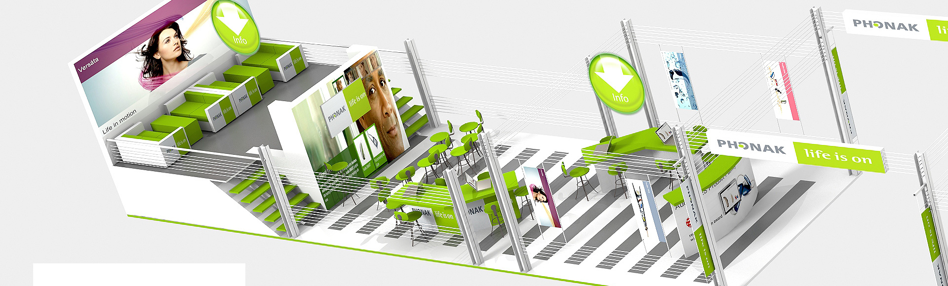 Stand Phonak - Design de stand d'exposition