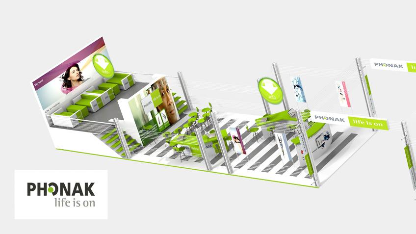 Stand Phonak - Design de stand d'exposition