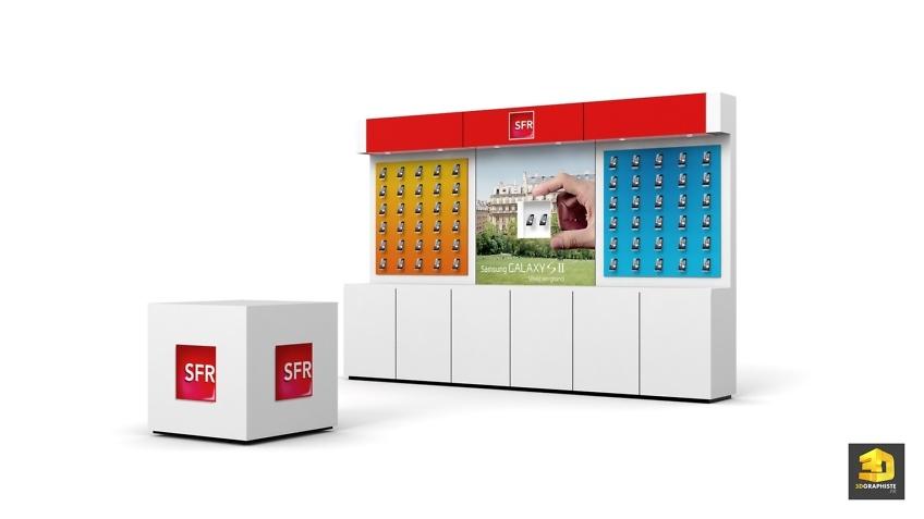 Design étagères meuble linéaires - Samsung