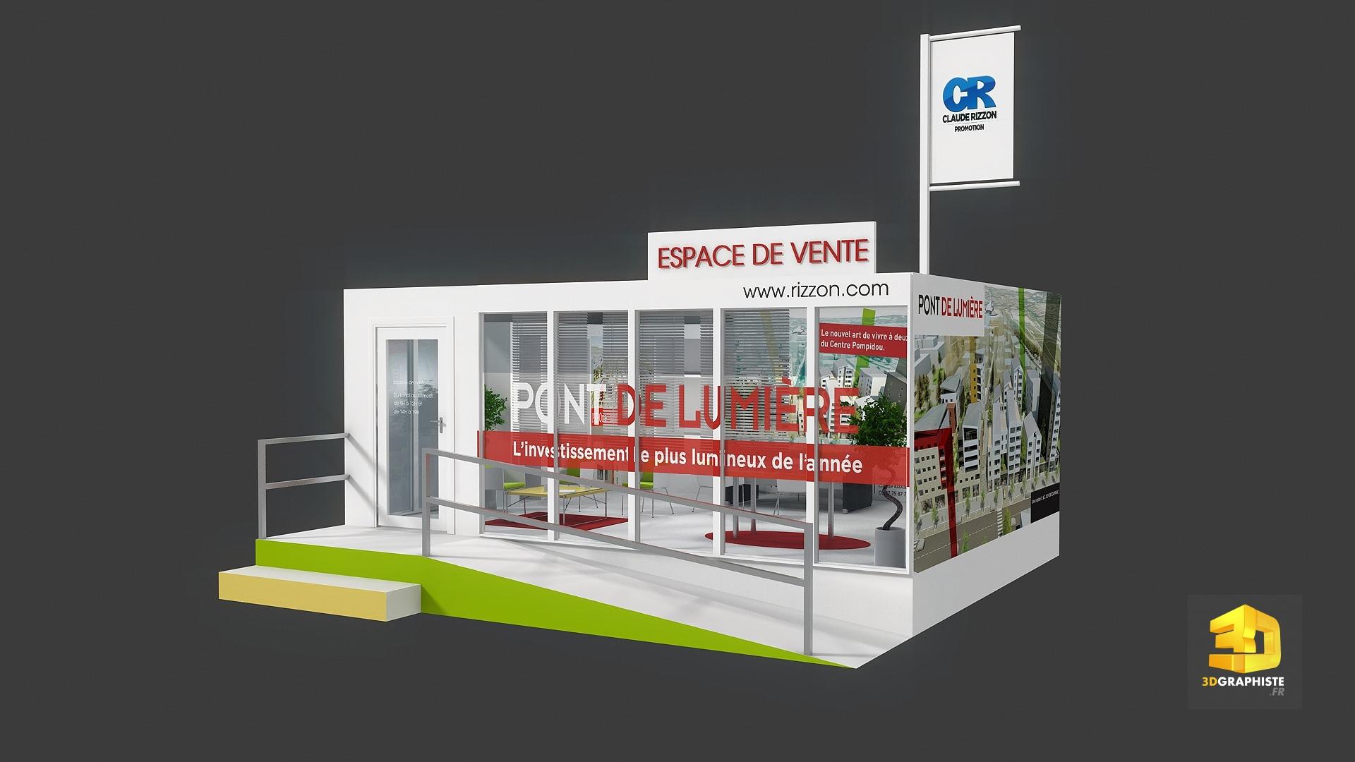 conception d 39 une bulle de vente espace de vente 3dgraphiste fr. Black Bedroom Furniture Sets. Home Design Ideas