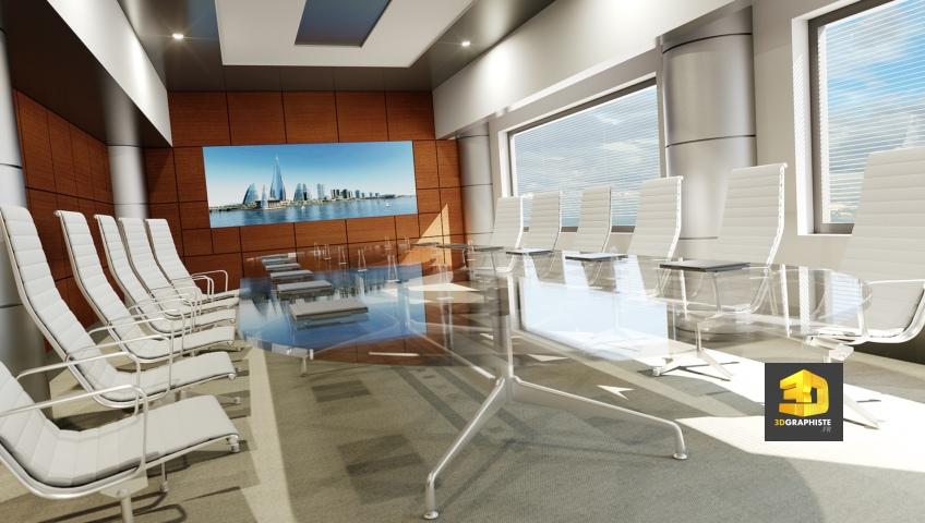 perspective 3d salle de réunion