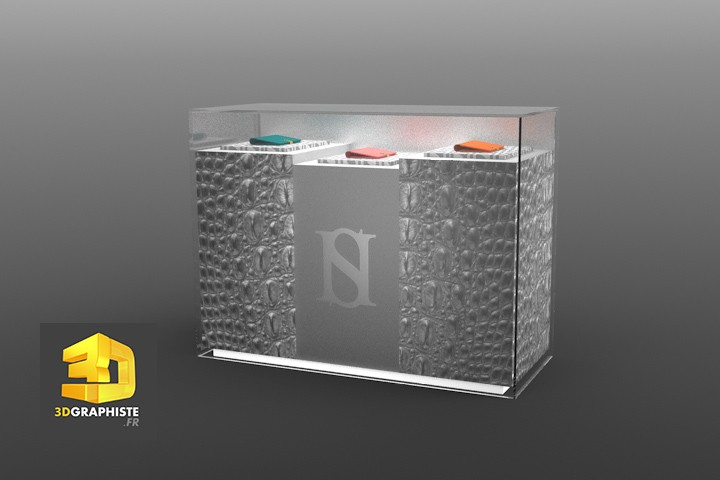 design d'un meuble vitrine - harold scherman - 3dgraphiste.fr - Designer De Meuble