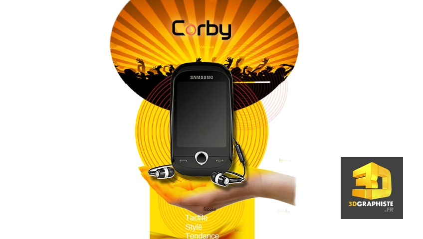 Designer PLV verticale totem - Samsung Mobile