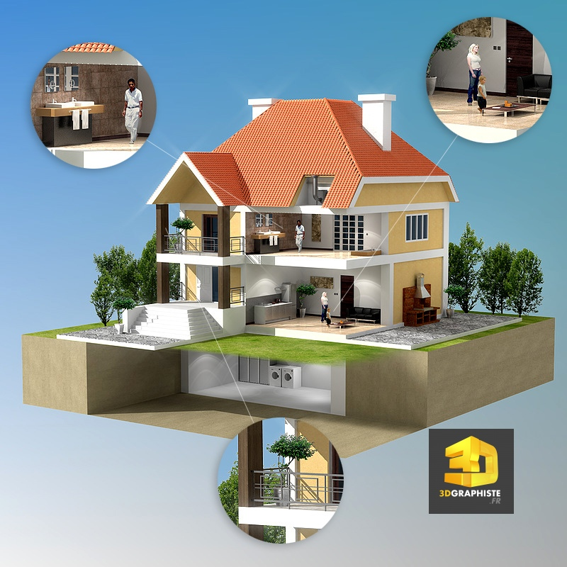 Elegant Corch Perspective D De Maison Corch Perspective D De Maison Cration  Duun Corch Duune Maison En Infographie D D Technique With Maison Virtuelle  With ...