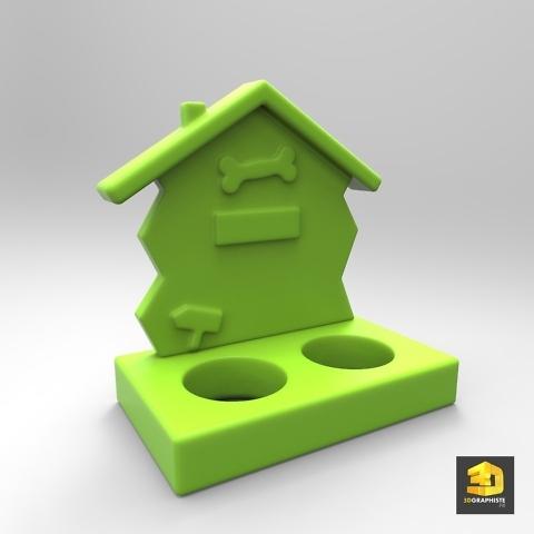 gamelle pour chien - rendu 3D