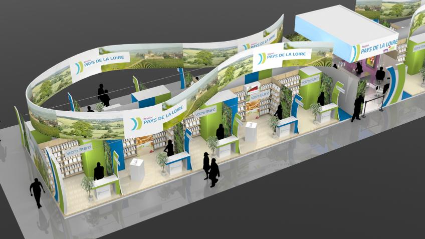 Graphiste concepteur de stands pavillons pour les foires Expo