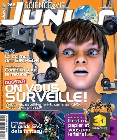 Illustration 3d magazine science et vie junior - Illustrateur Science et Vie