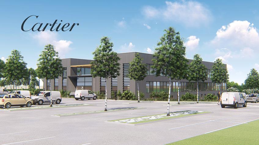 illustration architecture 3d bâtiment d'usine