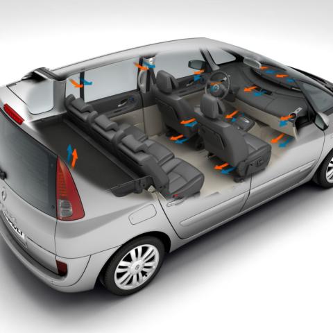 Illustration Technique 3D automobile - Aération d'une voiture