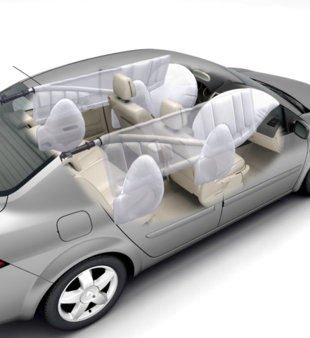 Illustration technique 3d - voiture airbags
