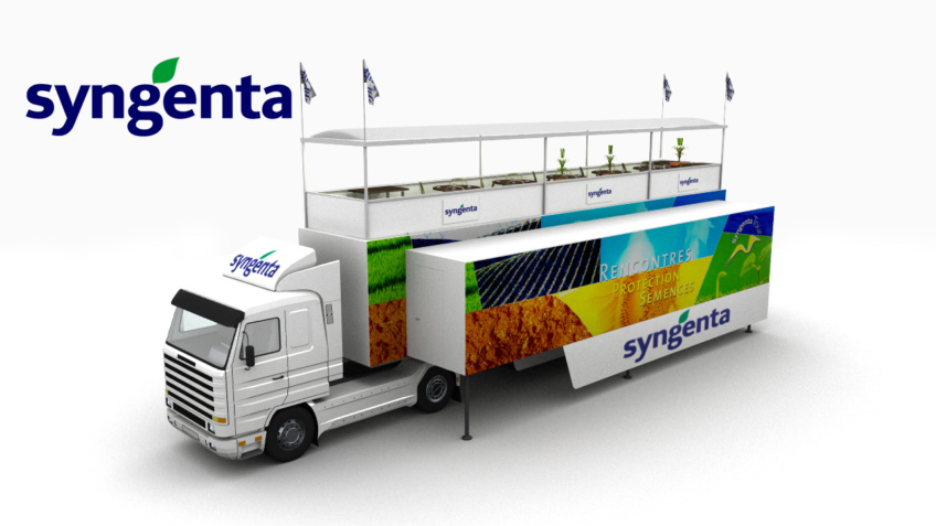Illustrations 3D - Camion evenementiel Syngenta