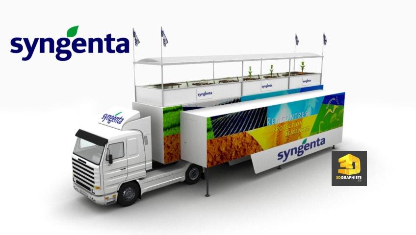 Illustrations 3D - Camion evenementiel Syngenta