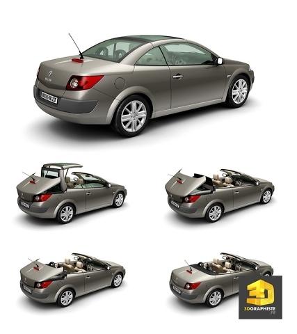 Infographie 3D Automobile - toit ouvrant