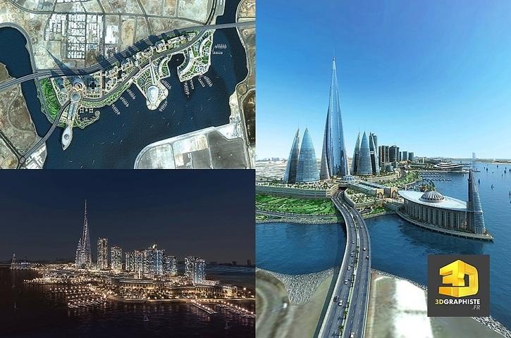 Infographiste 3d architecture - Amenagement urbain djeddah