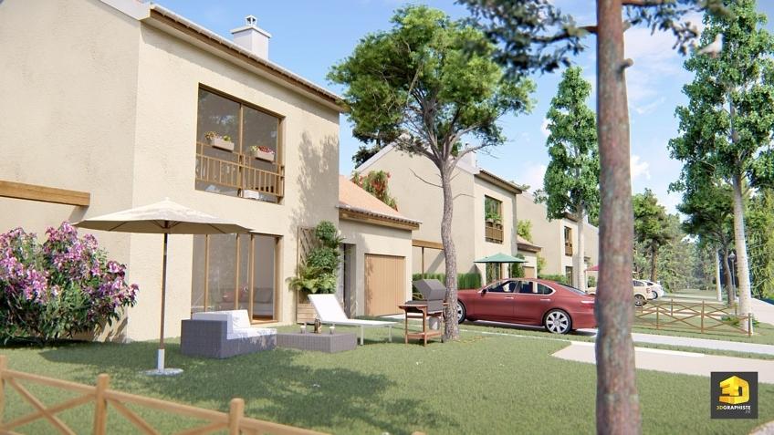 infographiste 3d architecture maisons lotissement