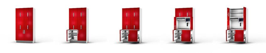 kitchenette en infographie 3d - meuble de cuisine