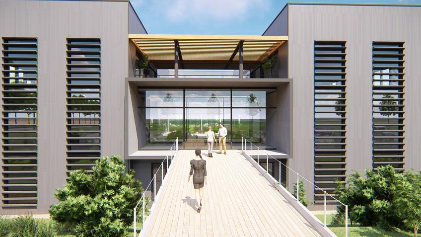 infographiste architecture - perspective usine