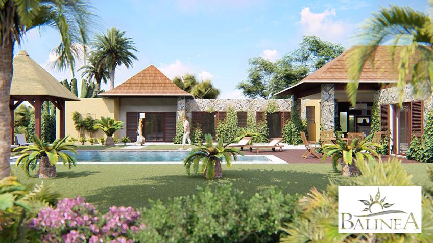 Infographiste architecture villa de luxe balinea