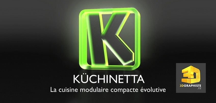Logo 3d - logo en animation 3d - kuchinetta