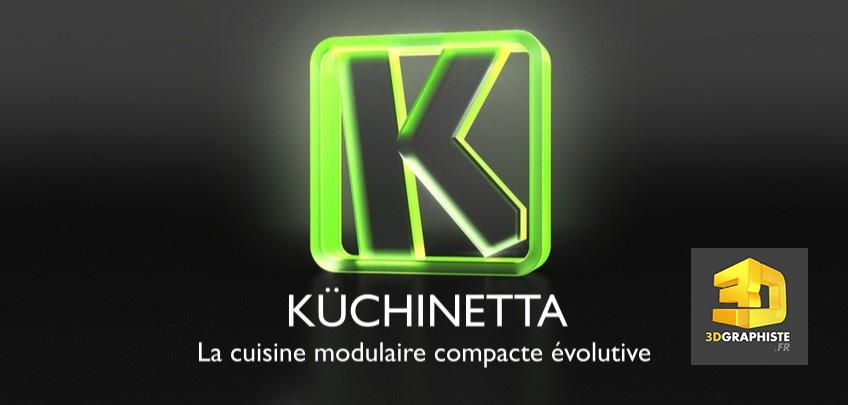Logo 3d - logo en animation 3d - kuchinetta