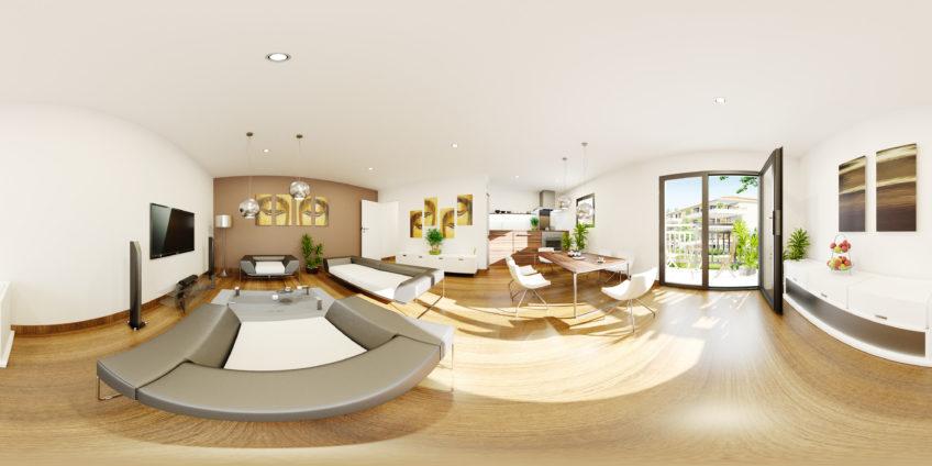 Lys séjour cuisine VRView - VR- panorama 360
