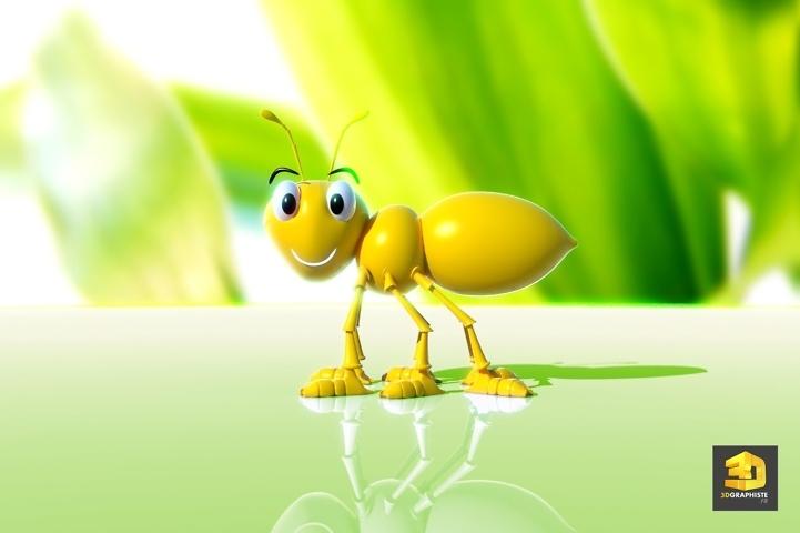 mascotte de fourmi en 3D