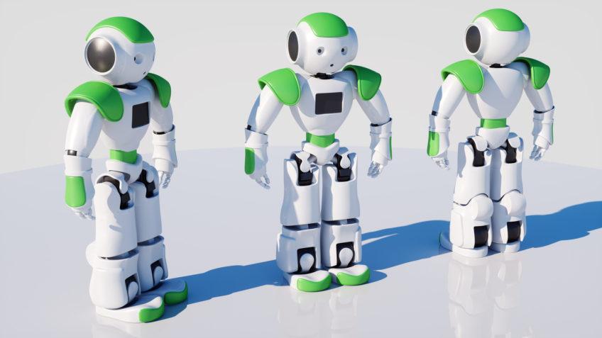 mascotte robot mignon - personnage