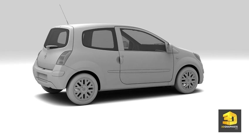 modelisateur de voiture en 3d - Renault Twingo