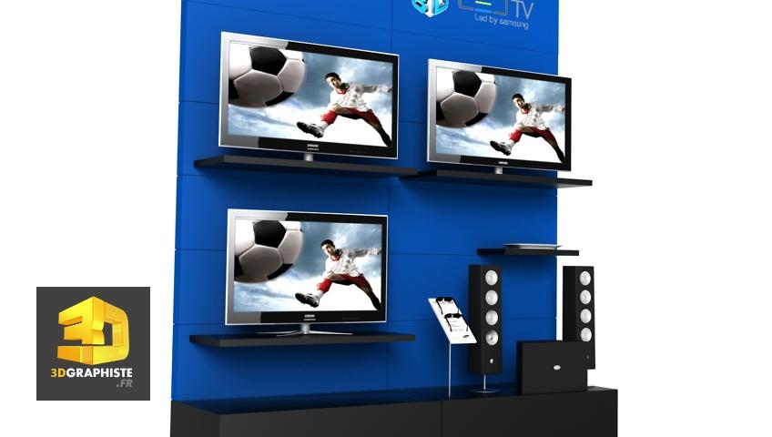 Meuble pour espace commercial - Samsung