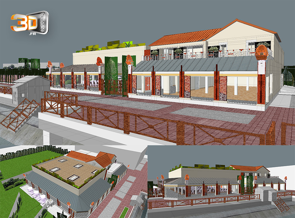 Modeleur 3d freelance services de mod lisation 3d for Batiment architectural