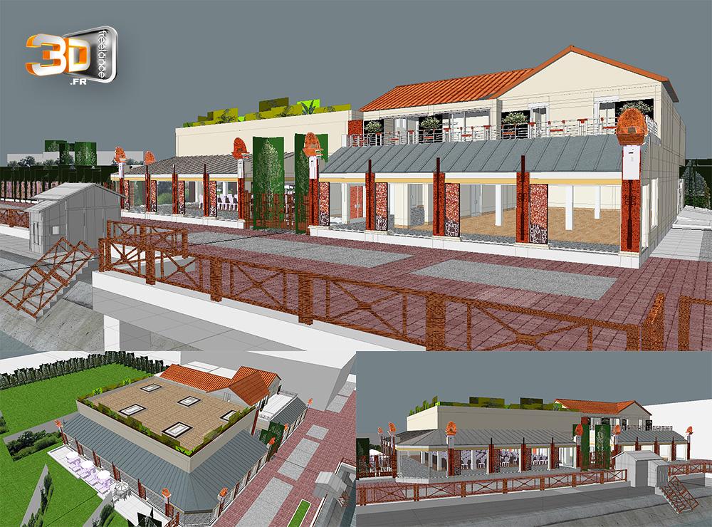 Modeleur 3d freelance services de mod lisation 3d for Batiment architectural
