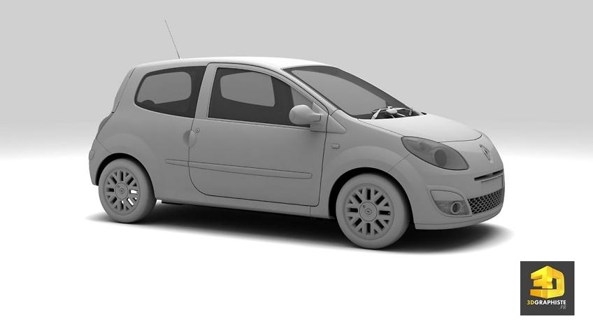 Modeling 3D voitures automobile - Renault Twingo