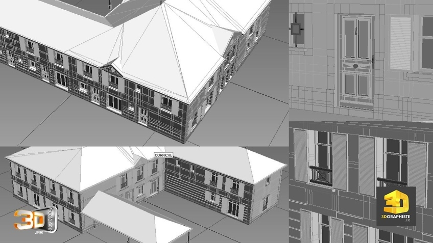 modelisation 3d architecture manoire