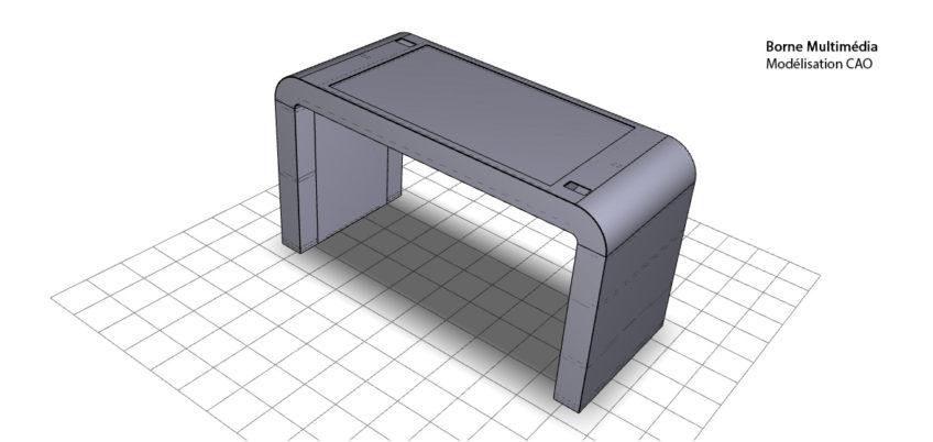 modelisation cao iges - borne tactile