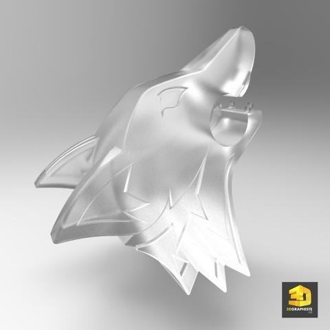 modélisation pour impression 3D tête de loup