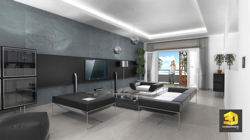 perspective 3d interieur sejour residence magnolias