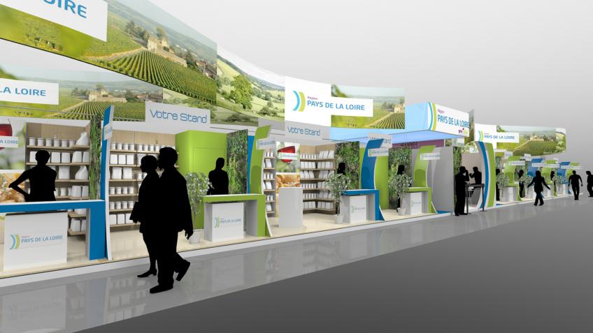 Perspective 3D - Pavillon d'exposition pour le Salon de l'Agriculture