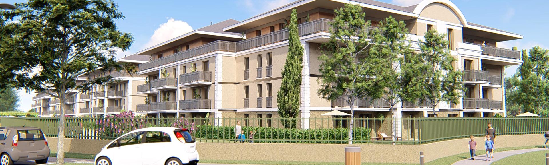 perspective d'architecture résidence bâtiments - Angers
