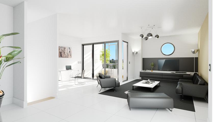 perspective immobilier salon séjour 2