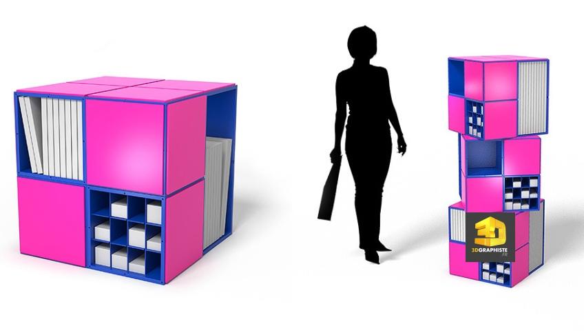 Rendu 3D de meuble - designer 3d