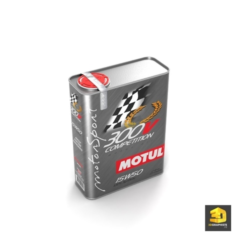 Rendu 3D packaging produit - Motul