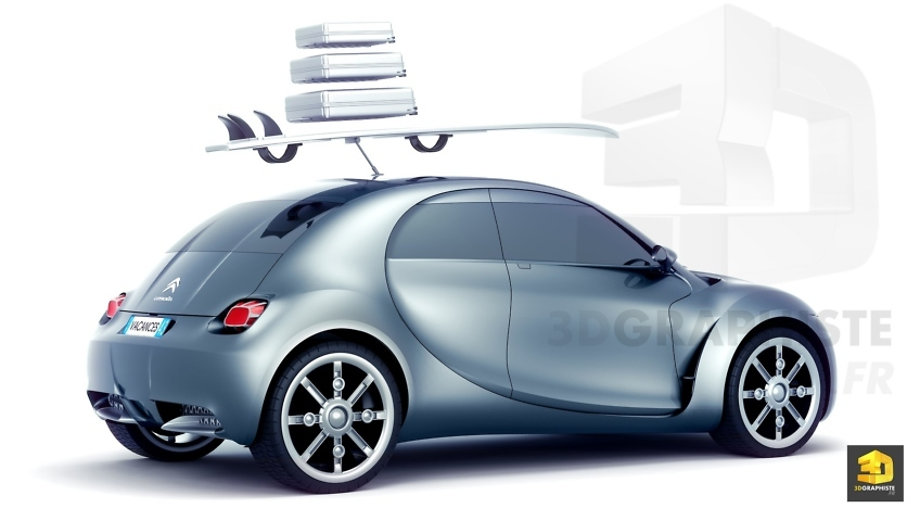 Rendu 3d photorealiste prototype citroen automobile