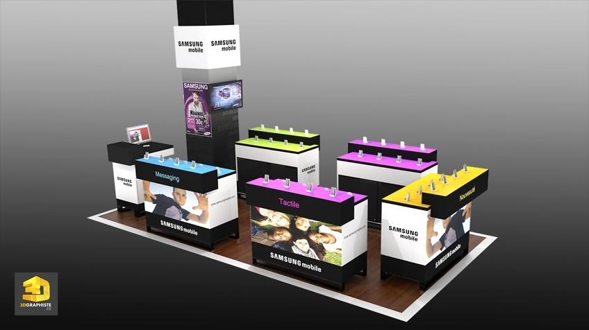 Rough 3D shop in shop - Samsung