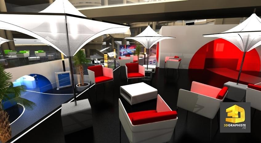 Roughman freelance - Evenement centre commercial - Lounge