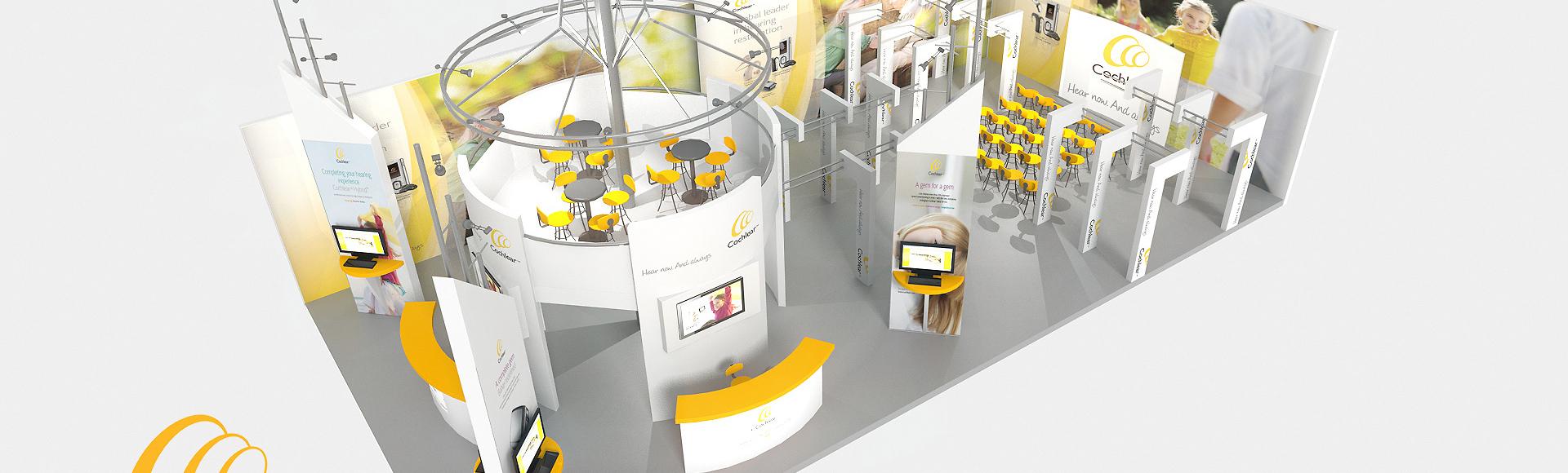 Design d'un stand d'exposition pour cochlear - booth