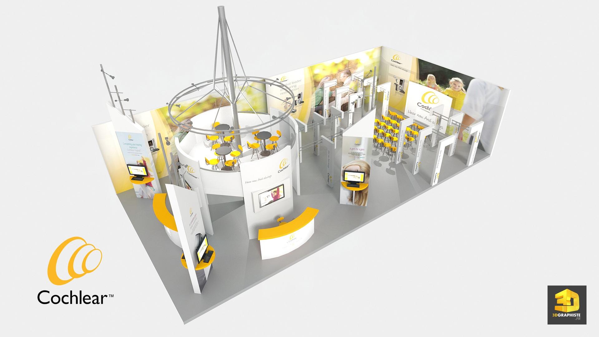 Top Design d'un stand d'exposition pour Cochlear - 3DGRAPHISTE.FR KC07