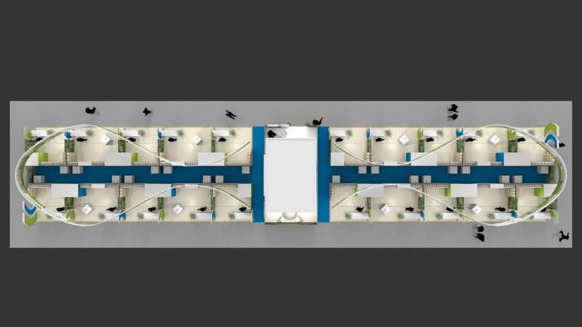 Stand pavillon d'exposition - Plan du Stand