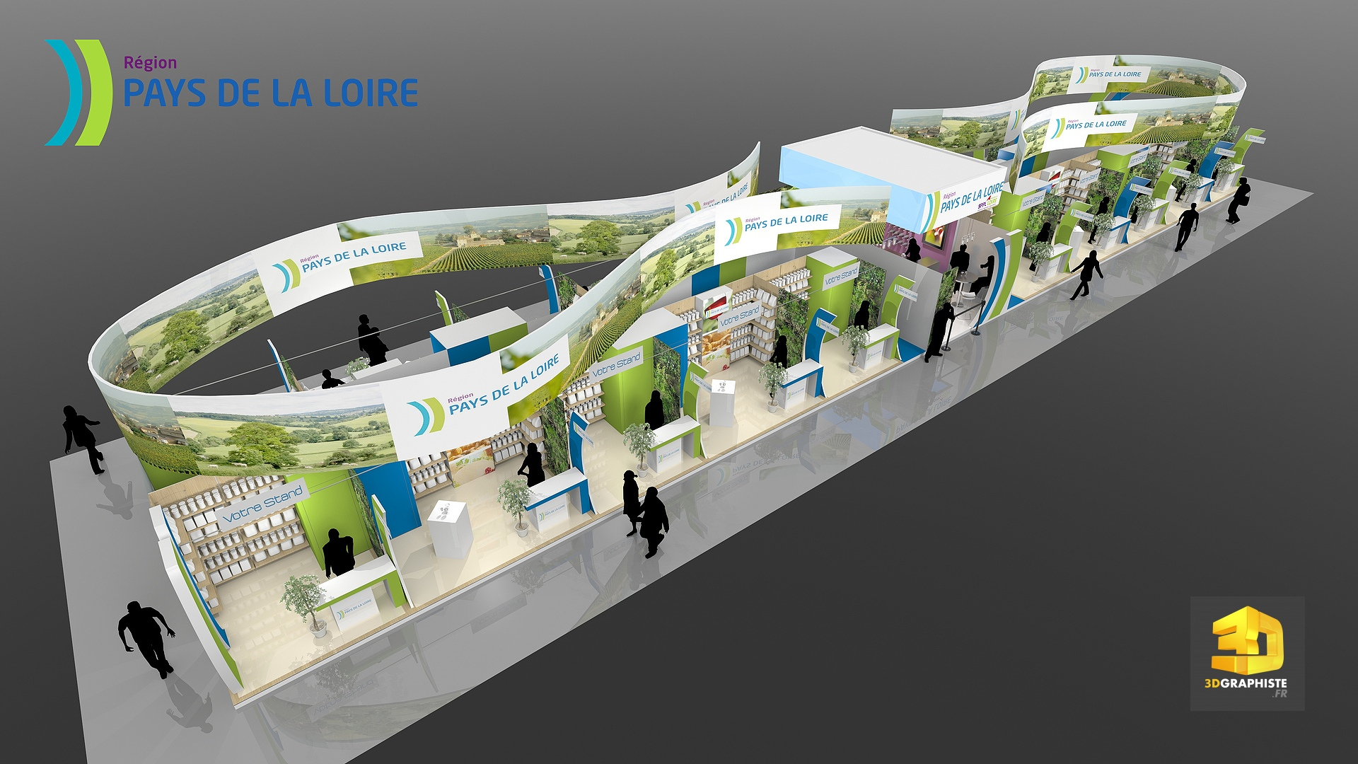 Cr ation d 39 un stand pavillon pour le salon de l for Salon l agriculture